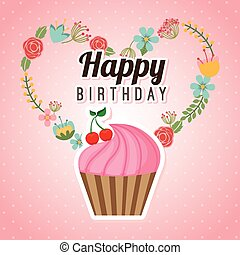 happy birthday design, vector illustration eps10 graphic