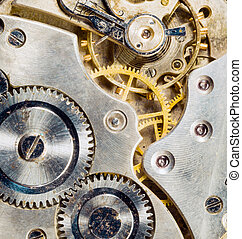 Gold Silver Antique Vintage Pocket Watch Body Gears