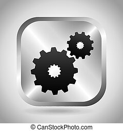 setup button design, vector illustration eps10 graphic