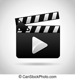 clapboard design, vector illustration eps10 graphic
