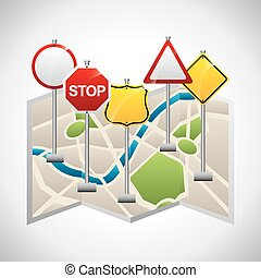 traffic signal design, vector illustration eps10 graphic