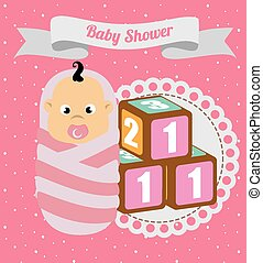 Baby shower design, vector illustration.