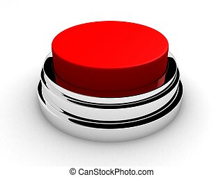 emergency button - 3d rendered illustration of a red stop...