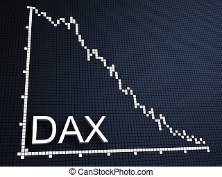 dax statistic - 3d rendered illustration of a falling...