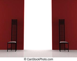 sillas, negro