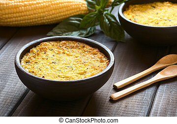 Chilean Pastel de Choclo (Corn Pie) - Bowl of traditional...