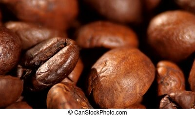 Top of brown roasted coffee beans - Top of lotsa coffee of...