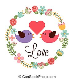 love postcard design, vector illustration eps10 graphic
