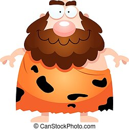 Happy Cartoon Caveman