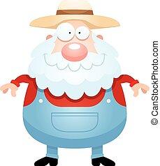 Happy Cartoon Farmer