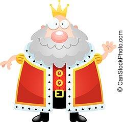 Cartoon King Waving