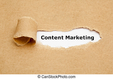 Content Marketing Torn Paper Concept - The text Content...