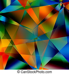 Abstract Colorful Pattern. - Abstract Colorful Triangular...