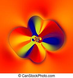 Strange Flower Shape. Fractal.