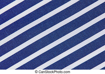 Stripy Fabric background blue and white closeup