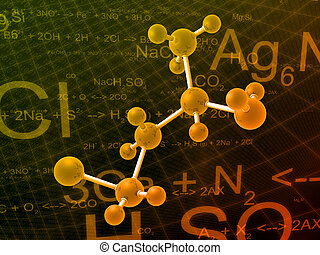 science illustration - 3d rendered illustration of molecules...