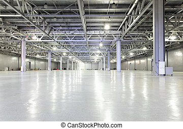 Storehouse - Interior of big empty storehouse