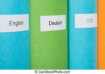 extranjero, idioma, Libros,