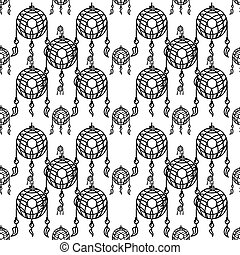 Dreams catcher vector background - Seamless vector pattern...
