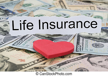 Life Insurance Text On Piece Of Paper