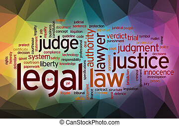 Legal word cloud with abstract background - Legal word cloud...