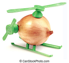 Onion Chopper - Helicopter Toy Improvisation Made with Onion...