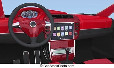 Car multimedia interface demo - Demonstration of car...