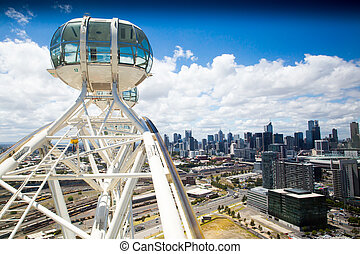 Melbourne skyline from Melbourne Star - The expansive...