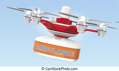 Drone carry AED and first aid kit