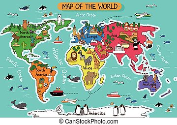 Map of the world - A vector illustration of map of the world