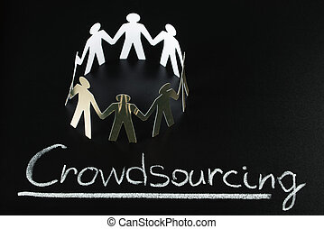 Crowdsourcing Concept - Teamwork Concept With Crowdsourcing...