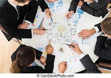 始動, 計画, グループ,  businesspeople