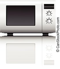 microwave oven on white, Illustration contains transparency...