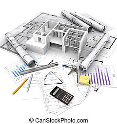 Real Estate operation - Office building with open interior...