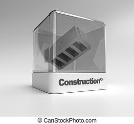 Construction showcase - Design showcase with the word...