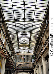 Old glass roof
