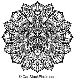 graceful, ornamental, vector, mandala on a white background...