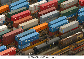Train Yard - Train yard in the Vancouver loading zone