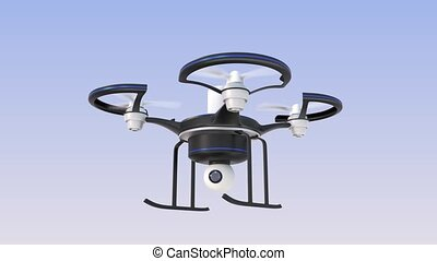Drone on air, Security concept - Drone on air, keep on...