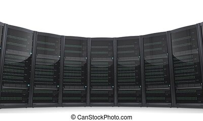 Looping animation of blade servers - Looping animation of...