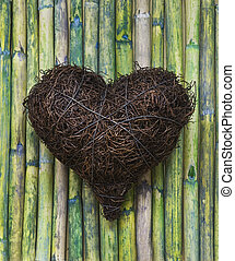 Heart - heart on bamboo