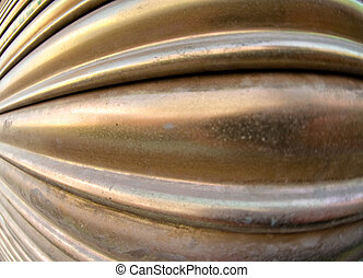 Metal shutter fish-eye lens - Shot with a fish-eye lens of a...