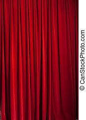 Red curtain d - Red curtain ideal for backgrounds and...