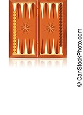 Backgammon - Vector image of an icon of Backgammon