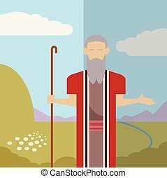 Judaism icon 2 - Vector image of an icon of Moses