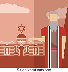 Moses icon 1 - Vector image of an icon of Moses