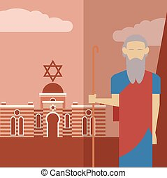 Moses icon 2 - Vector image of an icon of Moses