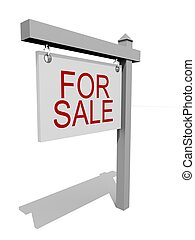 for sale - 3d rendered illustration of a sold sign