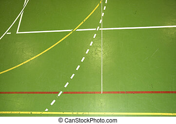 Sports hall floor detail