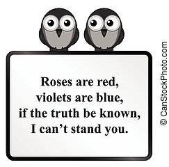 Cannot stand you Poem - Monochrome comical poetry cannot...